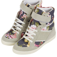 AEROBIC2 Floral Wedge Hi-Tops - Topshop USA