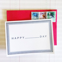 "Valentine's Day:  Fill In The Blanks Greeting Cards - HAPPY ""   "" DAY"