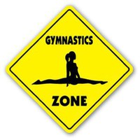 Amazon.com: GYMNASTICS ZONE Sign novelty gift sport gym: Patio, Lawn & Garden
