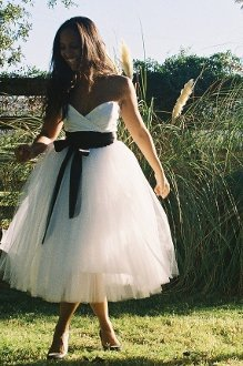 Sweetheart Crossover Wedding Dress by Ouma