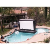 Amazon.com: 7&#x27; Aquascreen - Floatable Inflatable Movie Screen (.5mm Pvc): Toys &amp; Games