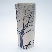 Medium Blue Tree Vessel by Georgina Fowler at Seek  Adore
