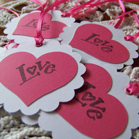 Valentine Gift Tag Love Goody Bag Favor Label Set of 8