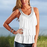 Ruffle layered top by VENUS