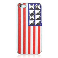 Hot Rivet American Flag Phone Case For iPhone 5
