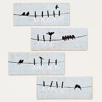 Bird on a Wire, Set of 4