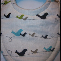 Birds On a Wire Super Absorbent Triple Layer by BananasBoutique