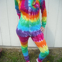$39.95 Tie dye long underwearunisex by DoYouDreamOutLoud on Etsy