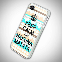 Keep Calm and Hakuna Matata with aztec pattern by KEIMBOLSTORE