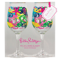 Lilly Pulitzer - Acrylic Wine Glasses - Chiquita Bonita - Dwellings