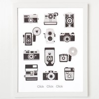 Letterpress Camera Art Print : Branch: Sustainable Design for Living