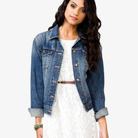 Sandblasted Denim Jacket | FOREVER 21 - 2036709232