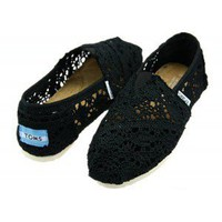 Wholesale Black Toms Crochet Shoes, Wholesale Black Toms Crochet Women's Classics Shoes From Toms Shoes Wholesaler