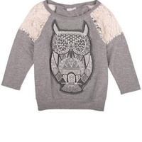 Lace Applique Owl