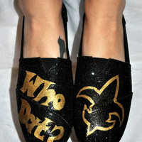 New Orleans Saints Painted TOMS
