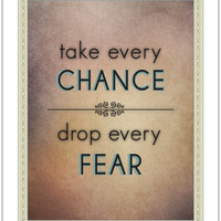 Take Every Chance Print by Emiges on Etsy