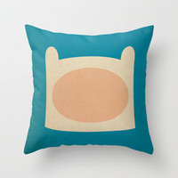 Minimalist Adventure Time Finn Throw Pillow by Lalalaokay | Society6