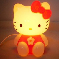 red Hello Kitty desk Reading Light Lamp gift children kids bedroom home decor accessory electronic