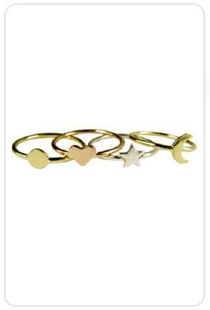 Ariel Gordon Jewelry Mini Shape Rings at ShopGoldyn.com