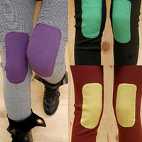 AsiaJam.com Fashion Boutique | Funky Bright Knee Patch Leggings