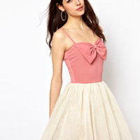Paprika Bow Front Dress
