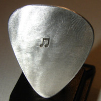 Aluminum Guitar Pick Handmade for the Serious by NiciLaskin