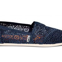 Navy Crochet Women&#x27;s Classics | TOMS.com
