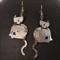 Notnu | Dangling Cat Earrings | Online Store Powered by Storenvy