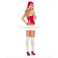 Red White Naughty Santa Girl Bow Sexy Christmas Costume [TSY111116047] - $20.99 : Cosplay, Cosplay Costumes, Lolita Dress, Sweet Lolita