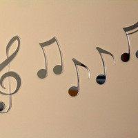 Decorative Musical Notes Accent Mirror by PlainlyStated on Etsy
