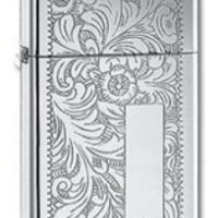 Zippo Slim High Polish Venetian Lighter with Free Engraving