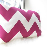 Chevron Pillow in Fuchsia by HoneyPieDesign on Etsy