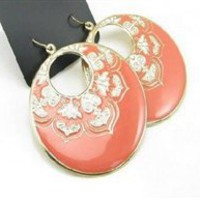 Coral Genie Earrings