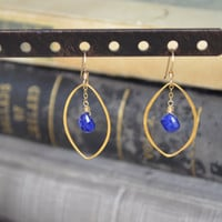 Lapiz Lazuli Earrings Gold by BelleReveDesigns on Etsy