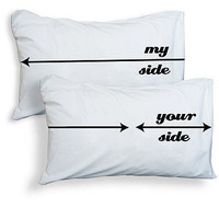 &#x27;my side, your side&#x27; pillowcases by twisted twee | notonthehighstreet.com