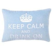 Keep Calm and Drink On Pillow  - Pillows - Bedding