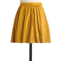 Cute En Route Skirt in Goldenrod | Mod Retro Vintage Skirts | ModCloth.com