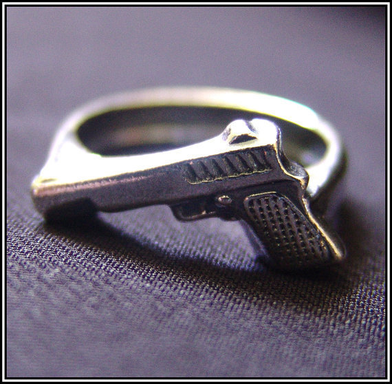 Gun Ring High Quality by SilverJewelryShop on Etsy