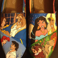 Custom Hand-Painted Shoes: Animation Revival Shoes