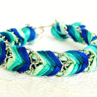 Emerald Peacock  Mint Sea Green Rich Turquoise &amp; Royal by HelloZee