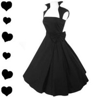 New Black Rockabilly 50s FULL SKIRT Swing Dress M PARTY Pinup Prom Bridal PIN UP New Black Rockabilly 50s FULL SKIRT Swing Dress M PARTY Pinup Prom Bridal PIN UP - eBay (item 290665479635 end time Mar-02-12 13:26:07 PST)