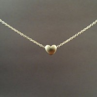 Tiny, Cute, Mini Heart, Sterling Silver Chain, Necklace