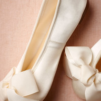 Satin Ballet Flats