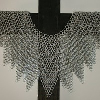 Artisan Crafted Galvanized Steel Maille Armour Mantle