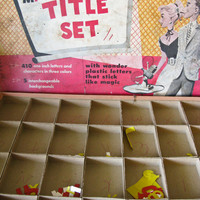 1950s Magic Plastic Vinyl Title Set Made for by timepassagesshop