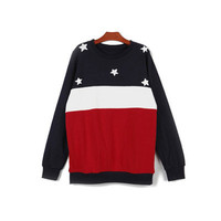 AMERICAN FLAG inspired SWEATSHIRT