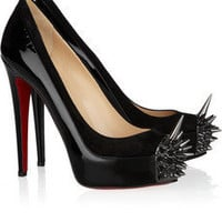 Christian Louboutin | Asteroid 140 suede and patent-leather pumps | NET-A-PORTER.COM