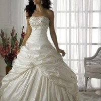 wedding dress Evening Gowns Prom Ball size 6-8-10-12-14-16,good price & quality