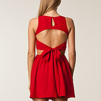 Lace Open Bow Back Dress, Rare London