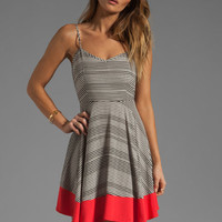 Jack by BB Dakota Nash Striped Dress in Black/Whitecap/Popred from REVOLVEclothing.com